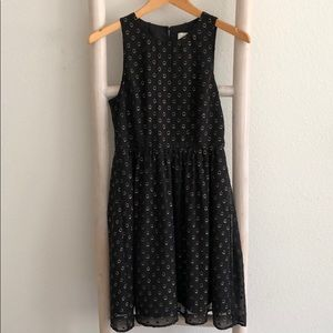 Black Dress w/Gold Embroidered Circles A New Day